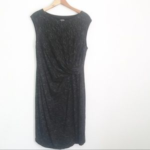 Anne Klein Soft Black Grey Dress